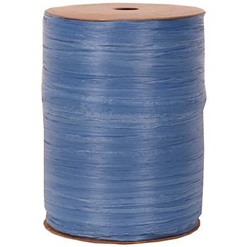 JAM Paper® Raffia Ribbon, Blue, 100 yd.