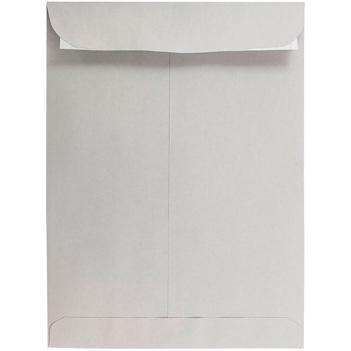 "JAM Paper Open End Catalog Premium Envelopes with Peel and Seal Closure, 9"" x 12"", Grey Kraft, 500/PK"