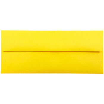 "JAM Paper® #10 Business Envelopes, 4 1/8"" x 9 1/2"", Brite Hue Yellow , 25/PK"