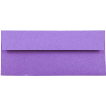 "JAM Paper® #10 Business Envelopes, 4 1/8"" x 9 1/2"", Brite Hue Violet Purple , 25/PK"