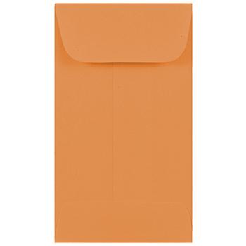 """JAM Paper® #3 Coin Envelope, 2 1/2"""" x 4 1/4"""", Brown Kraft Manila, 100/PK"""