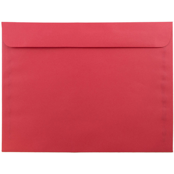 """JAM Paper Booklet Colored Recycled Envelopes, 9"""" x 12"""", Red, Recycled, 100/PK"""