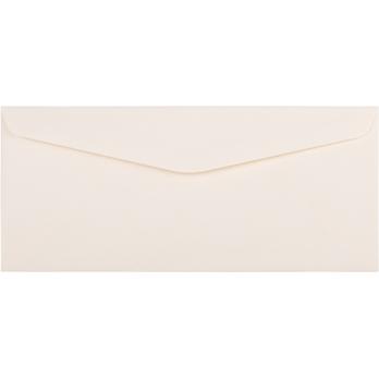 """JAM Paper #10 Business Strathmore Envelopes, 4 1/8"""" x 9 1/2"""", Natural White Linen, 500/CT"""