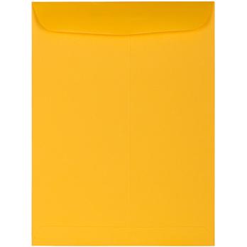 "JAM Paper® Open End Catalog Premium Envelopes, 9"" x 12"", Sunflower Yellow, 25/PK"