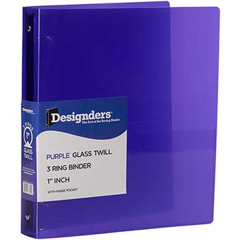 "JAM Paper® Plastic 3 Ring Binder, 1"", Purple"