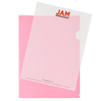"JAM Paper Plastic Sleeves, 9"" x 11 1/2"", Red, 12/PK"