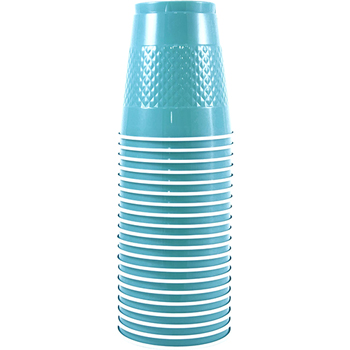 Bulk Plastic Cups - 12 oz - Sea Blue - 200 Cups/Case