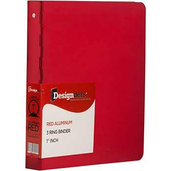 """JAM Paper Aluminium 3 Ring Binder, 1"""", Red"""