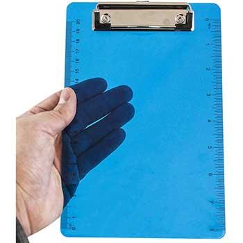 """Plastic Clipboard, 6"""" x 9"""",  Blue, 12/PK"""