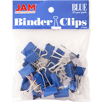 Binder Clips, Small 19mm, Blue , 25/Pack