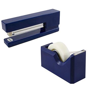 JAM Paper® Office & Desk Sets, Navy Blue, 2/PK