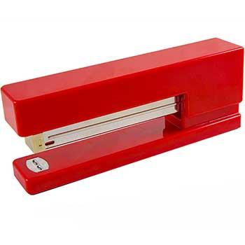 JAM Paper Modern Desk Stapler, Red