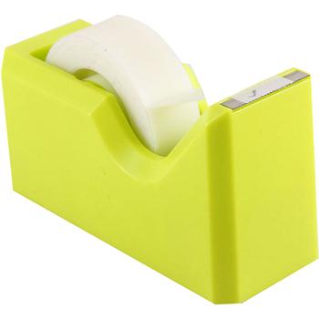 JAM Paper® Tape Dispenser, Lime Green, Sold Individually
