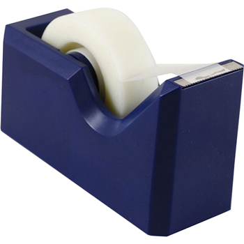 Tape Dispenser, Navy Blue, Sold Individually