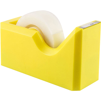 Tape Dispenser, Yellow, Sold Individually