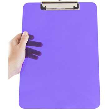 "JAM Paper® Plastic Clipboard, 9"" x 12 1/2"", Purple, 12/PK"