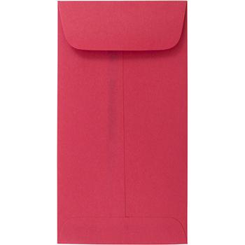 "JAM Paper® Coin Envelope, #7 (6 1/2"" x 3 1/2"") Brite Hue Red, 25/PK"