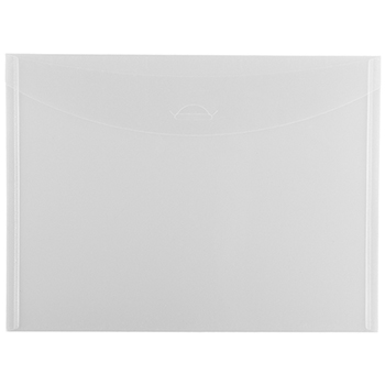 "JAM Paper® Plastic Envelopes with Tuck Flap Closure, Letter Booklet, 8 7/8"" x 12"", Clear, 12/PK"