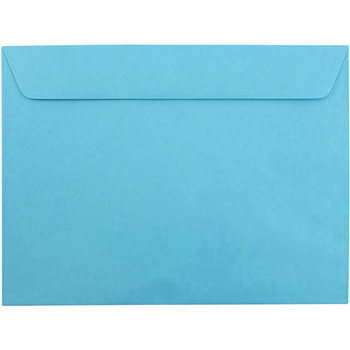 "JAM Paper® 9"" x12"" Booklet Envelopes, Brite Hue Blue , 25/PK"