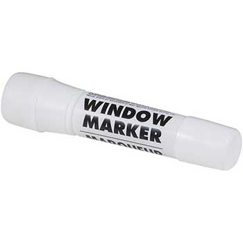 JAM Paper® Team Spirit Window Markers, Washable Ink for Car/Home Windows, White