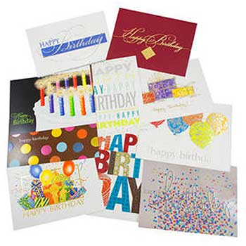 Birthday Card Set, Happy Birthday Card Assortment, 50 Card Set