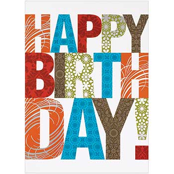 Birthday Cards Set, Happy Birthday Contemporary, 25 Card Set