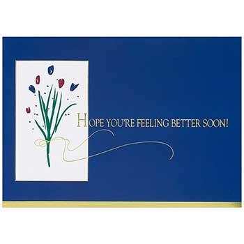 JAM Paper Sympathy Card Set, Get Well Flowers, 25 Card Set