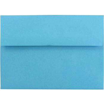 "JAM Paper A7 Invitation Envelopes, 5 1/4"" x 7 1/4"" , Brite Hue Blue , 25/PK"