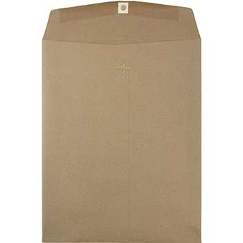 "Catalog Premium Envelopes with Clasp Closure, 10"" x 13"", Brown Kraft Paper Bag, 25/BX"