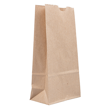 "JAM Paper® Kraft Lunch Bags, 4 1/8"" 2 1/4"" x 8"", Brown Recycled, 500/BX"
