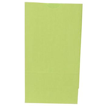 "JAM Paper® Kraft Lunch Bags, 4 1/8"" 2 1/4"" x 8"", Lime Green, 500/BX"