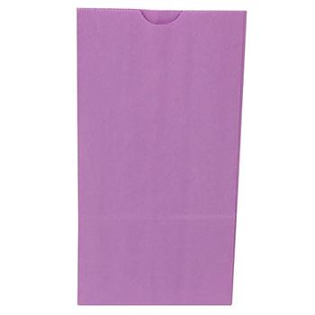 "JAM Paper® Kraft Lunch Bags, 5"" x 3"" x 9 3/4"", Purple, 500/BX"