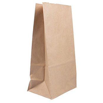 """JAM Paper® Kraft Lunch Bags, 6"""" x 3 3/4"""" x 11"""", Brown Recycled, 25/PK"""