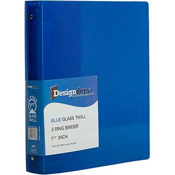 "JAM Paper® Plastic 3 Ring Binder, 1 1/2"", Blue"