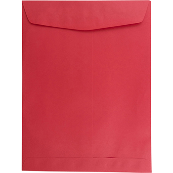 "Catalog Envelope, Open End, 9"" x 12"" Brite Hue Red, 25/PK"