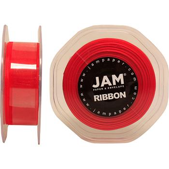 "JAM Paper Sheer Ribbon, 7/8"" (7 Yards), Red, RL"