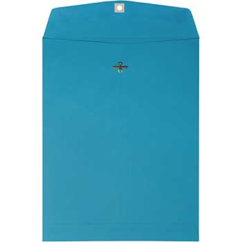 "JAM Paper® Catalog Envelopes with Clasp Closure, Open End, 10"" x 13"", Brite Hue Blue , 10/PK"