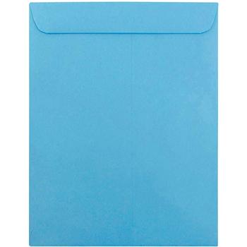 "JAM Paper Open End Catalog Envelopes, 10"" x 13"", Brite Hue Blue , 10/PK"