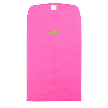 """JAM Paper Open End Catalog Envelopes with Clasp Closure, 6"""" x 9"""", Fuchsia Pink, 25/PK"""