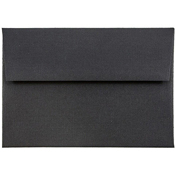 "JAM Paper 4Bar A1 Premium Invitation Envelopes, 3 5/8"" x 5 1/8"", Black Linen, 250/CT"