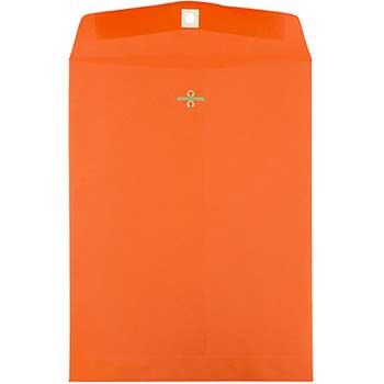"JAM Paper® Catalog Envelopes with Clasp Closure, Open End, 10"" x 13"", Brite Hue Orange , 10/PK"