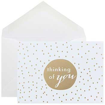 JAM Paper Greeting Card Set, Gold Tiny Dot, 10 Card Set