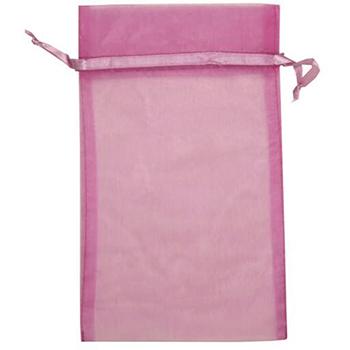 """JAM Paper Sheer Organza Gift Bags, 5 1/2"""" x 9"""", Violet, 12/PK"""