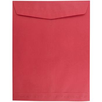 "JAM Paper Open End Catalog Envelopes, 10"" x 13"", Brite Hue Red , 10/PK"