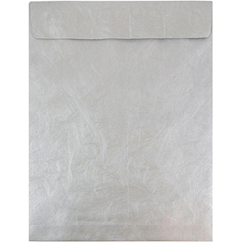 "Tyvek Tear-Proof Open End Catalog Envelopes, 11 1/2"" x 14 1/2"", Silver, 10/PK"