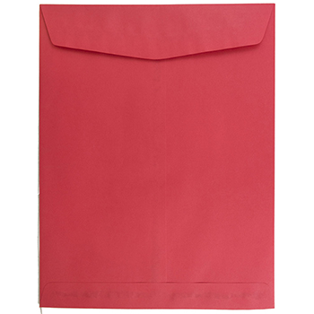 """JAM Paper Open End Catalog Envelopes, 10"""" x 13"""", Red Recycled, 25/PK"""
