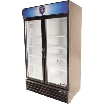 "Bison Refrigeration Two Glass Door Reach-In Refrigerator, 44 1/2"" x 28 1/3"" x 79 1/3"""
