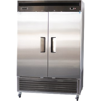 Bison Refrigeration Two Door Stainless Steel Reach-In Freezer