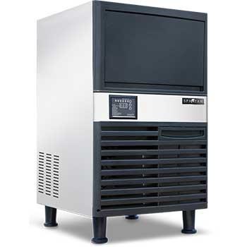 "Spartan Ice Machine with UV Light, Half Cube, 19.7"" x 23.2"" x 35.4"", 40 lb. Capacity, 120 lb. Output"