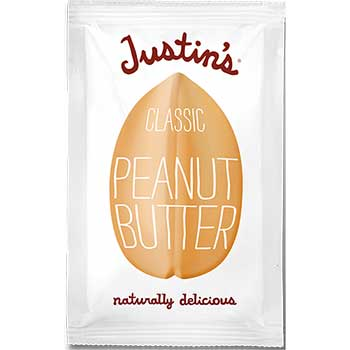 Justin's® Classic Peanut Butter, 1.15 oz. Squeeze Packs, 10/Box
